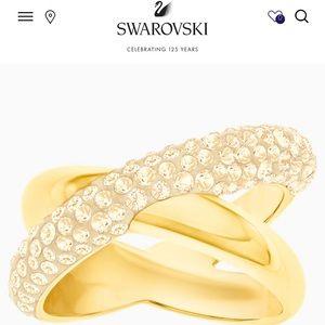 Swarovski Crystaldust crisps cross ring